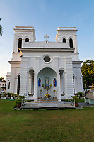 Church of the Assumption Penang - the church was built by Eurasians who followed Captain Francis Light to Penang when it was established as a British trading post. These Eurasians were fleeing persecution. Their leader was Bishop Arnaud-Antoine Ganault. They were joined by Catholics of Portuguese descent. The first group of Catholics arrived in Penang on the eve of the Feast of the Assumption in 1786 and later named their church after this historic arrival. The first wooden church was replaced by moving the site to its present location and the current building was constructed in 1861.
