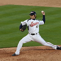 22 March 2009: #47 Toshiya Sugiuchi of Japan pitches against USA during the 2009 World Baseball Classic semifinal game at Dodger Stadium in Los Angeles, California, USA. Japan wins 9-4 over Team USA.