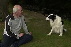 Eddie Sander with his Dogs Jackson and Inka<br /><br />18 June 2004<br /><br />Copyright Paul David Drabble<br /> [#Beginning of Shooting Data Section]<br />Nikon D1 <br /> Focal Length: 25mm<br /> Optimize Image: <br /> Color Mode: <br /> Noise Reduction: <br /> 2004/06/18 10:20:53.5<br /> Exposure Mode: Programmed Auto<br /> White Balance: Auto<br /> Tone Comp: Normal<br /> JPEG (8-bit) Fine<br /> Metering Mode: Spot<br /> AF Mode: AF-S<br /> Hue Adjustment: <br /> Image Size:  2000 x 1312<br /> 1/200 sec - F/7.1<br /> Flash Sync Mode: Front Curtain<br /> Saturation: <br /> Color<br /> Exposure Comp.: 0 EV<br /> Auto Flash Mode: External<br /> Sharpening: Normal<br /> Lens: 17-35mm F/2.8-4<br /> Sensitivity: ISO 200<br /> Image Comment: <br /> [#End of Shooting Data Section]