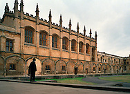 A Oxford University guard outside the Christ Church dining hall.