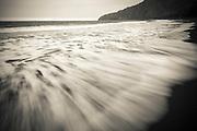 Waves, Waipio Valley beach, Hamakua Coast, The Big Island, Hawaii USA