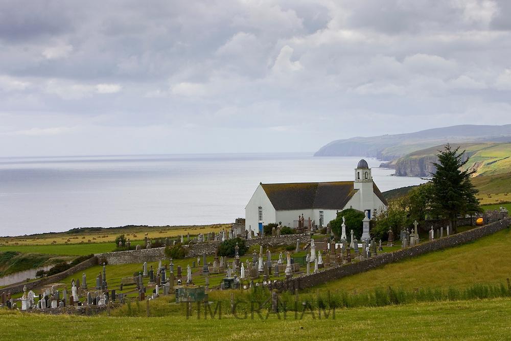 Canisbay church and graveyard in Caithness, Scotland, United Kingdom