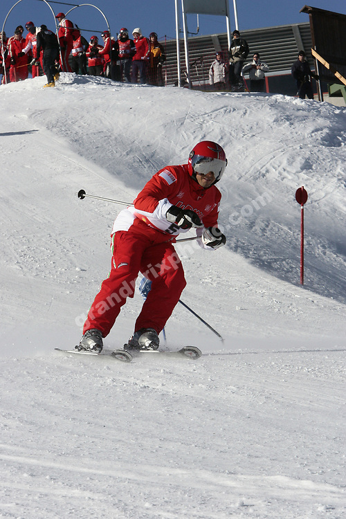 Felipe Massa skiing during the Ferrari Ski Week in Madonna di Campiglio, January 2007. Photo: Grand Prix Photo