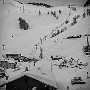 24 MAR 2020 - Courmayeur, Italy. Countries around the world are locking-down due to the Covid19 pandemic. At present, there are nearly 400k positive cases and more than 17k deaths.
