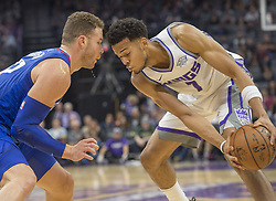 November 25, 2017 - Sacramento, CA, USA - The Sacramento Kings' Skal Labissiere (7) faces up against the Los Angeles Clippers' Blake Griffin in the first half on Saturday, Nov. 25, 2017, at Golden 1 Center in Sacramento, Calif. (Credit Image: © Hector Amezcua/TNS via ZUMA Wire)