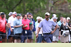 May 30, 2019 - Dublin, OH, U.S. - DUBLIN, OH - MAY 30: Tiger Woods smiles during the first round of The Memorial Tournament on May 30th 2019  at Muirfield Village Golf Club in Dublin, OH. (Photo by Ian Johnson/Icon Sportswire) (Credit Image: © Ian Johnson/Icon SMI via ZUMA Press)