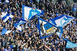 14.03.2015, Olympiastadion, Berlin, GER, 1. FBL, Hertha BSC vs Schalke 04, 25. Runde, im Bild Schalke-Fans vor dem Spiel,  // SPO during the German Bundesliga 25th round match between Hertha BSC and Hertha BSC vs Schalke 04 at the Olympiastadion in Berlin, Germany on 2015/03/14. EXPA Pictures © 2015, PhotoCredit: EXPA/ Eibner-Pressefoto/ Hundt<br /> <br /> *****ATTENTION - OUT of GER*****