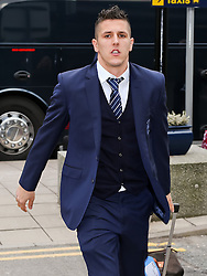 Manchester City's Stefan Jovetic arrives at Manchester Airport to board the team flight to Barcelona ahead of the UEFA Champions League second leg match against Barcelona - Photo mandatory by-line: Matt McNulty/JMP - Mobile: 07966 386802 - 17/03/2015 - SPORT - Football - Manchester - Manchester Airport - Barcelona v Manchester City - UEFA Champions League
