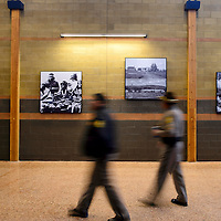 012214  Adron Gardner/Independent<br /> <br /> Black and white photography decorates the walls of the Bee Hółdzil Fighting Scout Event Center in Fort Defiance Wednesday.