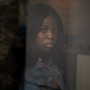 Jenifer Ikponmwosa, a 19-year old nursing assistant from Limerick, poses for a portrait at her aunt's home in Dublin, Ireland, on July 17, 2020. Although she was born and raised in Ireland, Miss Ikponmwosa says she constantly experiences racist abuse. CREDIT: Paulo Nunes dos Santos for The Wall Street Journal<br /> <br /> IRELANDBLM