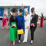 08.10.17.            <br /> Pictured at Limerick Racecourse for the  Keanes Most Stylish Lady competition were, Gretta Peters, Emer Kilroy, Lesley Teehan and Paula McCormack. Picture: Alan Place