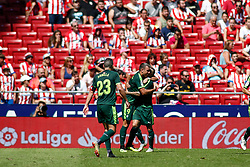 September 15, 2018 - Sergi Enrich of Eibar celebrates the goal during the spanish league, La Liga, football match between Atletico de Madrid and Eibar on September 15th, 2018 at Wanda Metropolitano stadium in Madrid, Spain. (Credit Image: © AFP7 via ZUMA Wire)