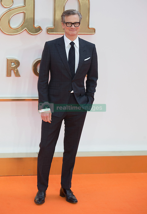 Colin Firth attends the World Premiere of Kingsman: The Golden Circle Arrivals at The Odeon in Leicester Square in London on 18 September 2017.<br /><br />18 September 2017.<br /><br />Please byline: Vantagenews.com