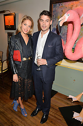 TESS WARD and JASON DE SAVARY at a dinner hosted by Kate Spade NY to celebrate Chelsea in Bloom held at Daphne's, 112 Draycott Avenue, London on 20th May 2015.