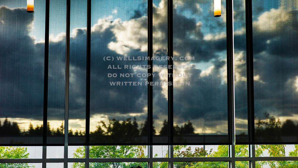 Image of window reflections in Redmond, Washington, Pacific Northwest by Randy Wells