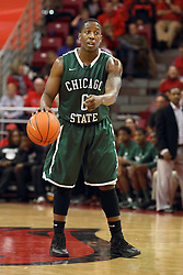 04 December 2013:  Corey Gray during an NCAA  mens basketball game between the Cougars of Chicago State and the Illinois State Redbirds  in Redbird Arena, Normal IL