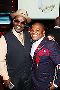 May 19, 2016-Brooklyn, NY: United States- (L-R) Art Historian/Media Personality Fab 5 Freddy and Visual Artist Kehinde Wiley attend the 2nd Annual (Museum of Contemporary African Diasporic Art (MoCADA) Masquerade Ball held at the Brooklyn Academy of Music on May 19, 2016 in Brooklyn, New York. (Terrence Jennings/terrencejennngs.com)