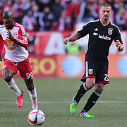 Perry Kitchen, D.C. United, in action during the New York Red Bulls Vs D.C. United Major League Soccer regular season match at Red Bull Arena, Harrison, New Jersey. USA. 22nd March 2015. Photo Tim Clayton