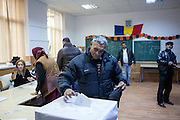 Members from the community are electing the new Romanian president at one of the two polling stations for the presidential elections in Marginenii de Jos.