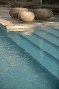 Close up of Hotel Dominique Colonna pool, Corte, Corsica, France