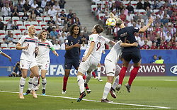 Wendie RENARD ( FRA ), Isabell HERLOVSEN ( NOR ),Amandine HENRY ( FRA ) in action during the match of 2019 FIFA Women's World Cup France group A match between FRANCE and NORWAY, at Allianz Riviera, Nice Arena on June 12, 2019 in Nice, France. Photo by Loic BARATOUX/ABACAPRESS.COM