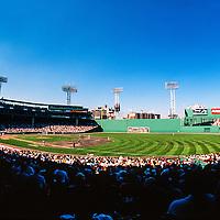 Mid-summer afternoon ballgame in Fenway Park Boston.