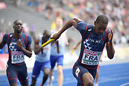 French team comptes in 4X400m Men during the European Championships 2018, at Olympic Stadium in Berlin, Germany, Day 4, on August 10, 2018 - Photo Photo Julien Crosnier / KMSP / ProSportsImages / DPPI