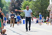 Republican candidate for Pennsylvania governor and former congressman Lou Barletta waves as he walks in the Independence Day Parade in Millville, Pennsylvania on July 5, 2021. (Photo by Paul Weaver)