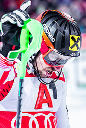 """29.01.2019, Planai, Schladming, AUT, FIS Weltcup Ski Alpin, Slalom, Herren, 2. Lauf, im Bild Sieger Marcel Hirscher (AUT) jubelt // Marcel Hirscher of Austria celebrate reacts after his 2nd run of men's Slalom """"the Nightrace"""" of FIS ski alpine world cup at the Planai in Schladming, Austria on 2019/01/29. EXPA Pictures © 2019, PhotoCredit: EXPA/ JFK"""