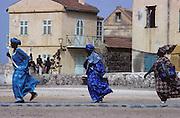 "Île de Gorée, ""Gorée Island"". It is a small island near Dakar famous as a slave trade center.The island is a UNESCO World Heritage Site."