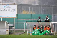 Banc de touche Saint Etienne  - 03.12.2014 - Saint Etienne / Lyon - 11eme journee de Division 1<br /> Photo : Thomas Pictures / Icon Sport