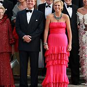 NLD/Apeldoorn/20070901 - Viering 40ste verjaardag Prins Willem Alexander, Willem-Alexander en Maxima schateren het uit van het lachen