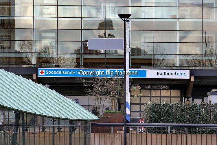 Nederland, Nijmegen, 4-3-2020De toegang tot de eerste hulp van het Radboudumc, umc, radboud, academisch, ziekenhuis. FOTO: FLIP FRANSSEN