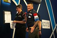 Derk Telnekes (Netherlands), reacts, during the William Hill World Darts Championship at Alexandra Palace, London, United Kingdom on 20 December 2020.