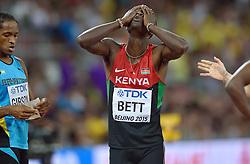 25-08-2015 CHN: IAAF World Championships Athletics day 4, Beijing<br /> Nicholas Bett KEN winning the 400m hurdles<br /> Photo by Ronald Hoogendoorn / Sportida