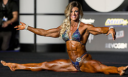 September 15, 2018 - Las Vegas, Nevada, U.S. -  AUTUMN SWANSEN of the U.S. competes in the Women's Physique Olympia during Joe Weider's Olympia Fitness and Performance Weekend 2018.(Credit Image: © Brian Cahn/ZUMA Wire)