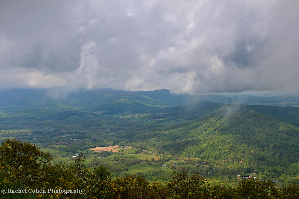 """""""Down Came the Rain""""<br /> <br /> Scenic mountain view in the Blue Ridge in-between storms!!<br /> <br /> The Blue Ridge Mountains by Rachel Cohen"""
