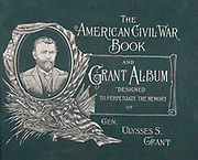"""Back cover binding from The American Civil War book and Grant album : """"art immortelles"""" : a portfolio of half-tone reproductions from rare and costly photographs designed to perpetuate the memory of General Ulysses S. Grant, depicting scenes and incidents in connection with the Civil War Published  in Boston and New York by W. H. Allen in 1894"""