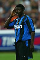 Milano 27/7/2004 Trofeo Tim - Tim tournament <br /> <br /> Obafeme Martins Inter<br /> <br /> <br /> <br /> Inter Milan Juventus <br /> <br /> Inter - Juventus 1-0<br /> <br /> Milan - Juventus 2-0<br /> <br /> Inter - Milan 5-4 d.cr - penalt.<br /> <br /> <br /> <br /> Photo Andrea Staccioli Graffiti