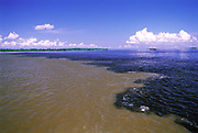 Meeting of the Waters<br />Rio Negro & Solimoes Rivers<br />Amazon,  BRAZIL  South America
