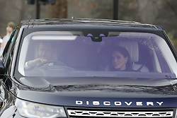 © Licensed to London News Pictures. 20/12/2017. London, UK. Members of the Royal Family are driven to Buckingham Palace to attend the Queen's annual Christmas lunch. Photo credit: Peter Macdiarmid/LNP