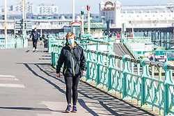 © Licensed to London News Pictures. 24/03/2020. Brighton, UK. The majority of the public follows the social distancing rules and keeps 6 ft between each other as the government has put the UK on lock down to prevent the spread of the Coronavirus. Photo credit: Hugo Michiels/LNP