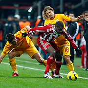Galatasaray's Ayhan Akman (B) during their Turkish Superleague soccer match Galatasaray between Sivasspor at the Turk Telekom Arena at Aslantepe in Istanbul Turkey on Saturday 26 November 2011. Photo by TURKPIX