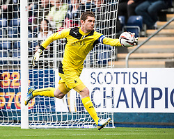 Falkirk's keeper Michael McGovern.<br /> Falkirk 3 v 1 Dundee, 21/9/2013.<br /> ©Michael Schofield.