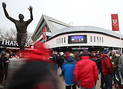 Supporters make their way to watch Bristol City against Reading