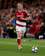 Adam Forshaw of Middlesbrough during the English Premier League match at Riverside Stadium, Middlesbrough. Picture date: April 26th, 2017. Pic credit should read: Jamie Tyerman/Sportimage