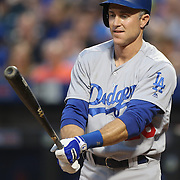 NEW YORK, NEW YORK - May 28:  Chase Utley #26 of the Los Angeles Dodgers batting during the Los Angeles Dodgers Vs New York Mets regular season MLB game at Citi Field on May 28, 2016 in New York City. (Photo by Tim Clayton/Corbis via Getty Images)