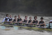 Putney, GREAT BRITAIN,  Crew Looks; left to right, Bow James STRAWSON. 2. Joel JENNINGS, 3. Code STERNAL, 4 Peter MARSLAND, 5. George NASH, 6. Henry PELLY, 7. Tom RANSLEY, stroke Silas STAFFORD and Cox Helen HODGES.during the 2008 Varsity/Cambridge University Trial Eights, raced over the championship course. Putney to Mortlake, Tue. 16.12.2008. [Mandatory Credit, Peter Spurrier/Intersport-images] Varsity Boat Race, Rowing Course: River Thames, Championship course, Putney to Mortlake 4.25 Miles,
