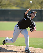 GLENDALE, ARIZONA - FEBRUARY 22:  Michael Kopech #78 of the Chicago White Sox pitches during a during spring training workout February 22, 2018 at Camelback Ranch in Glendale Arizona.  (Photo by Ron Vesely)  Subject:   Michael Kopech