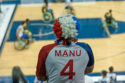 June 9, 2017 - Toronto, Ontario, Canada - June 09, 2017 - Toronto, Ontario, Fan on the field during the basketball game - South Africa vs France  during 2017 Men's U23 World Wheelchair Basketball Championship which takes place in Ryerson's Mattamy Athletic Centre, Toronto, ON, in June 08 -16, 2017  (Credit Image: © Anatoliy Cherkasov/NurPhoto via ZUMA Press)